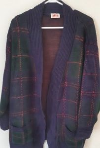 Alia Oversized Plaid Cardigan